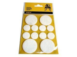 Podkładki filcowe białe fi 38 4szt. + fi 20 8szt A-40001-07-XXX Aspro
