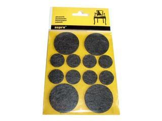 Podkładki filcowe czarne fi 38 - 4szt + fi 20 - 8szt A-40002-07-XXX Aspro