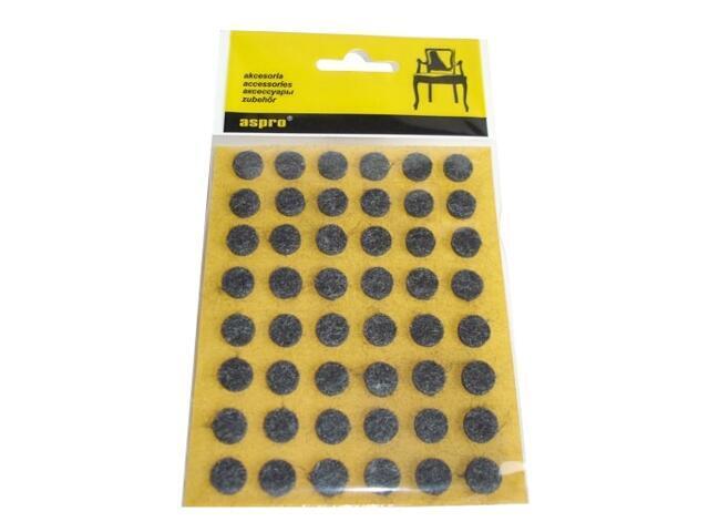 Podkładki filcowe czarne fi10 - 48szt A-40002-08-XXX Aspro