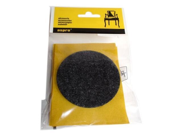 Podkładki filcowe czarne fi 70 - 4szt A-40002-09-XXX Aspro