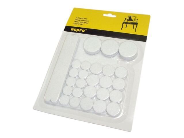 Zestaw podkładek filcowych białych A-40001-10-038 Aspro