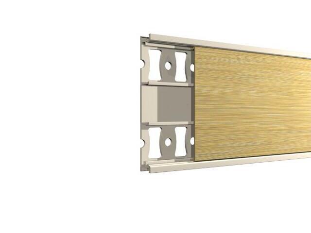 Listwa dekoracyjna płaska 50x8,5mm ALU złoto A2 dł. 2,5m F-FDPB1-A2-250 Morino