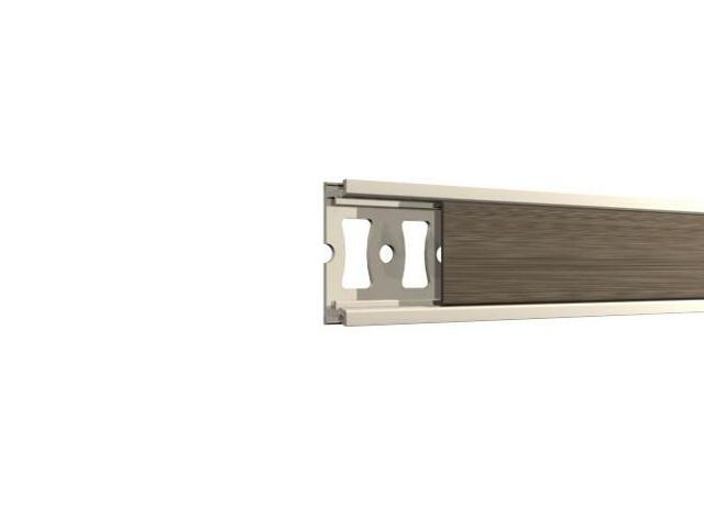 Listwa dekoracyjna płaska 20x8,5mm ALU oliwka A1 dł. 2,5m F-FDPA1-A1-250 Morino