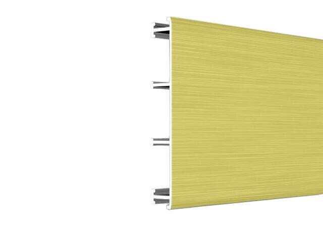 Listwa dekoracyjna płaska 50x8,5mm ALU złoto A2 dł. 2,5m F-ADPB1-A2-250 Morino