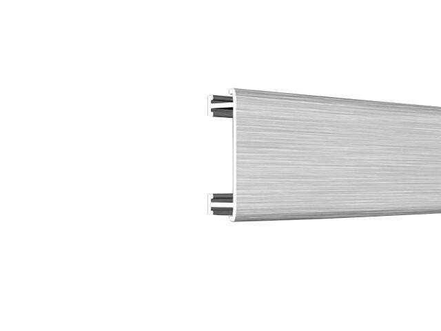 Listwa dekoracyjna płaska 25x8,5mm ALU srebrny A0 dł. 2,5m F-ADPA1-A0-250 Morino