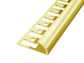 Listwa wykończeniowa zakończeniowa 10mm ALU złoto 03 dł. 2,5m 6-00602-03-250 Aspro