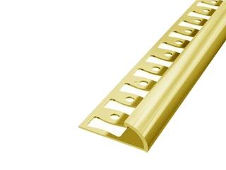 Listwa wykończeniowa zakończeniowa 8mm ALU złoto 03 dł. 2,5m 6-00603-03-250 Aspro