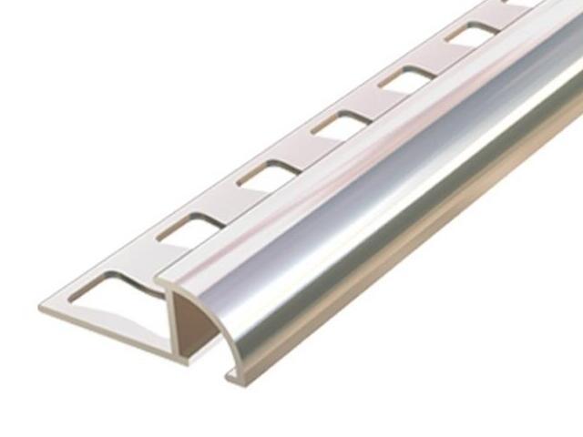 Listwa wykończeniowa zakończeniowa 10mm ALU surowe dł. 2,5m 6-00611-00-250 Aspro