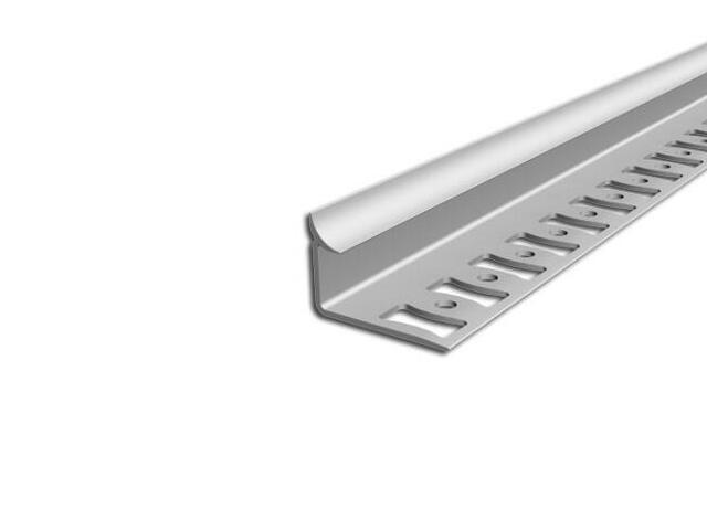 Listwa wykończeniowa wewnętrzna 8mm PVC biały L0 dł. 2,5m F-FSW08-L0-250 Aspro