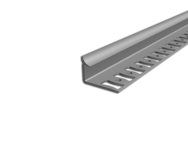 Listwa wykończeniowa wewnętrzna 8mm PVC szary L4 dł. 2,5m F-FSW08-L4-250 Aspro