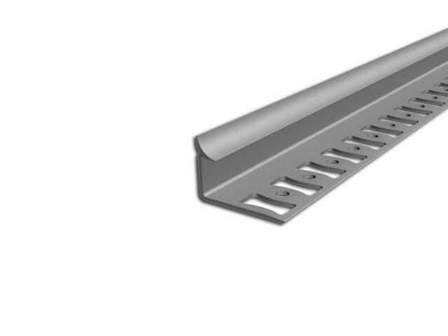 Listwa wykończeniowa wewnętrzna 10mm PVC szary L4 dł. 2,5m F-FSW10-L4-250 Aspro