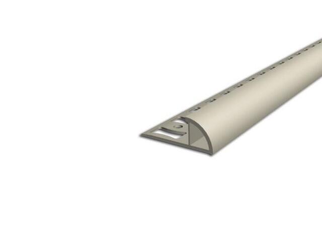 Listwa wykończeniowa zewnętrzna 8mm PVC kość słoniowa L1 dł 2,5m F-FSZ08-L1-250 Aspro