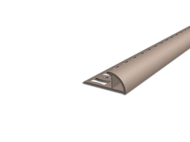 Listwa wykończeniowa zewnętrzna 8mm PVC karmel L3 dł 2,5m F-FSZ08-L3-250 Aspro