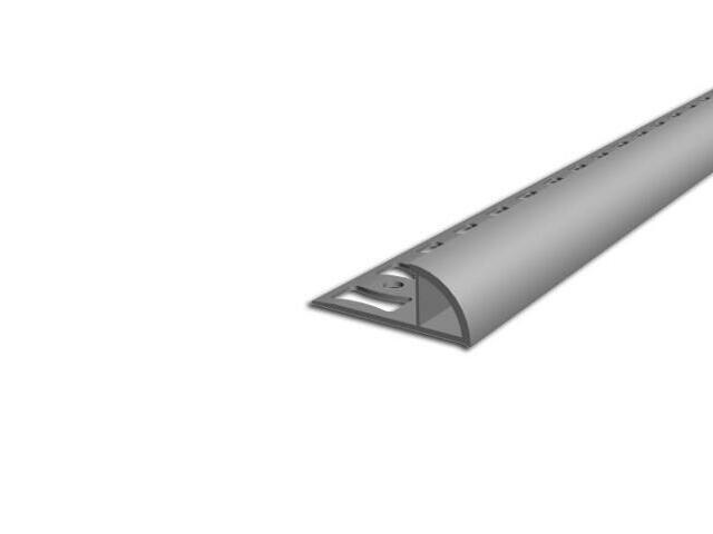 Listwa wykończeniowa zewnętrzna 8mm PVC szary L4 dł 2,5m F-FSZ08-L4-250 Aspro