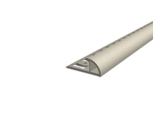 Listwa wykończeniowa zewnętrzna 10mm PVC kość słoniowa L1 dł. 2,5m F-FSZ10-L1-250 Aspro