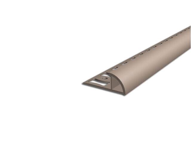 Listwa wykończeniowa zewnętrzna 10mm PVC karmel L3 dł. 2,5m F-FSZ10-L3-250 Aspro