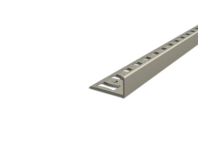 Listwa wykończeniowa zakończeniowa 8mm PVC kość słoniowa L1 dł. 2,5m F-FSK08-L1-250 Aspro