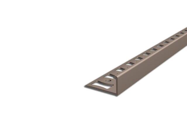 Listwa wykończeniowa zakończeniowa 8mm PVC karmel L3 dł. 2,5m F-FSK08-L3-250 Aspro