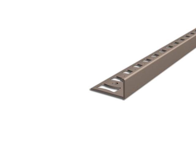 Listwa wykończeniowa zakończeniowa 10mm PVC karmel L3 dł. 2,5m F-FSK10-L3-250 Aspro