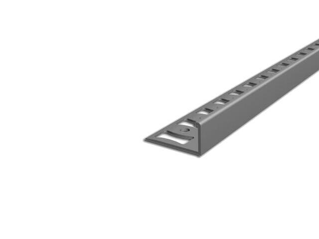 Listwa wykończeniowa zakończeniowa 10mm PVC szary L4 dł. 2,5m F-FSK10-L4-250 Aspro