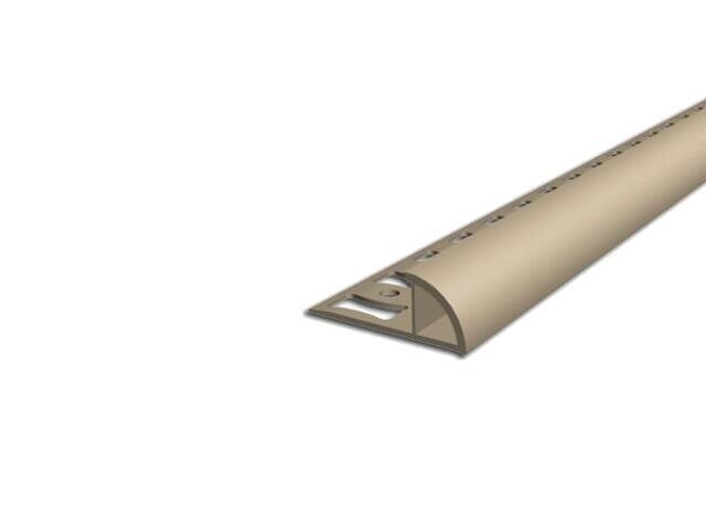 Listwa wykończeniowa zewnętrzna 10mm PVC beż L5 dł 2,5m F-FSZ10-L5-250 Aspro