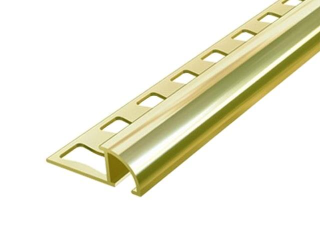 Listwa wykończeniowa zakończeniowa 8mm ALU złoto 03 dł. 2,5m 6-00621-03-250 Aspro