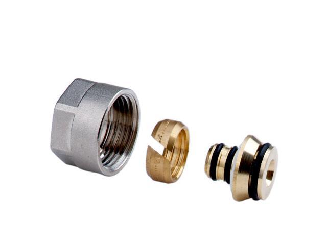 """Złączki zaciskowe 3/4"""" do rur wielowarstwowych 16x2mm (2szt) Ferro"""