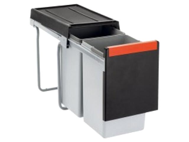Sortownik odpadów Cube 30 wysuwany ręcznie pojemnik 2x15L 134.0039.553 Franke