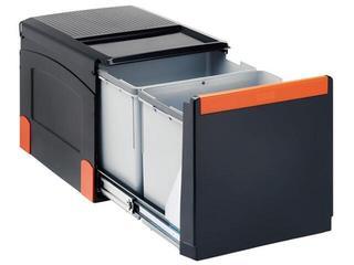 Sortownik do odpadów Cube 41 wysuwany ręcznie pojemnik 1x18L+2x8L 134.0055.271 Franke