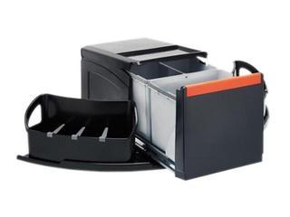 Sortownik do odpadów Cube narożny wysuwany ręcznie pojemnik 1x18L+2x8L 134.0055.288 Franke