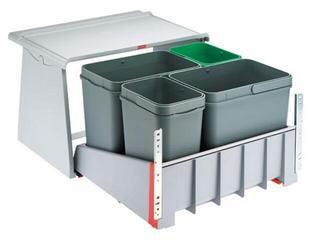 Sortownik do odpadów 760 K wysuwanie stopą 121.0082.284 Franke