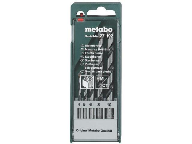 Zestaw wierteł do kamienia HM w kasecie 5szt. Metabo