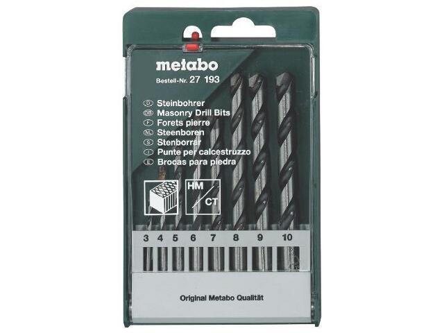 Zestaw wierteł do kamienia HM w kasecie 8szt. Metabo