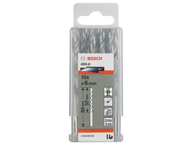 Wiertło do metalu HSS-G Standard DIN 338 6x57x93mm 10szt. 2608595066 Bosch