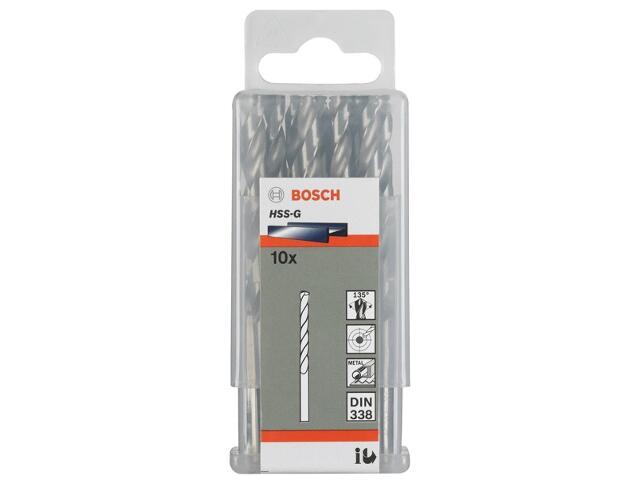 Wiertło do metalu HSS-G Standard DIN 338 3,8x43x75mm 10szt. 2608585484 Bosch