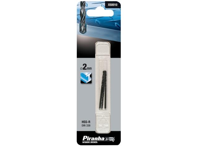 Wiertło do metalu 2mm HSS-R DIN 338 Piranha