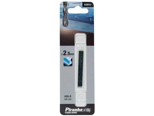 Wiertło do metalu 2,5mm HSS-R DIN 338 Piranha