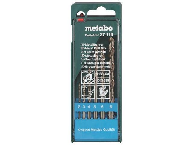 Zestaw wierteł do metalu HSS-CO w kasecie 6szt. Metabo