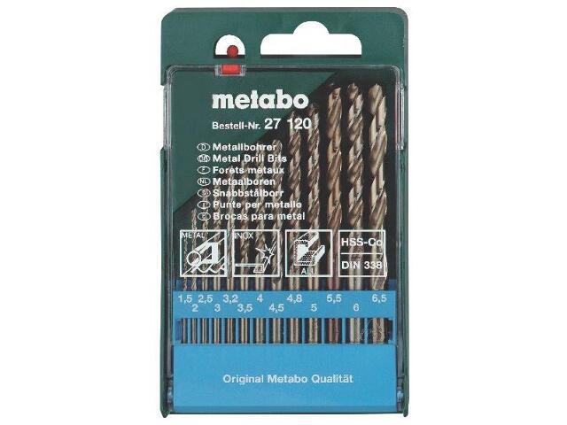 Zestaw wierteł do metalu HSS-CO w kasecie 13szt. Metabo