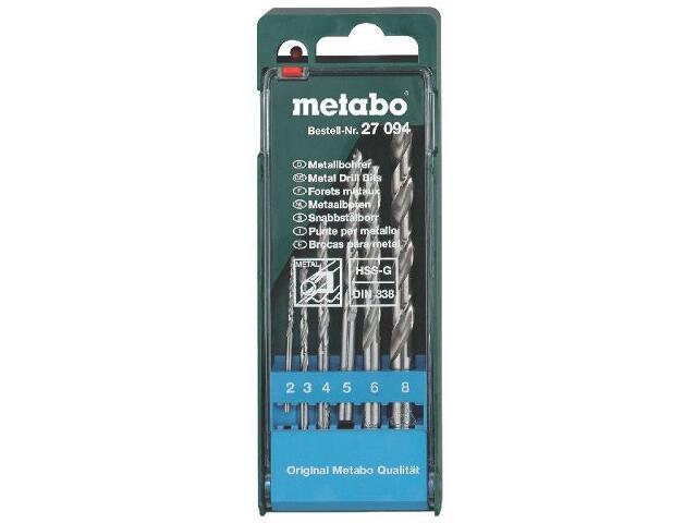 Zestaw wierteł do metalu HSS-G w kasecie 6szt. Metabo