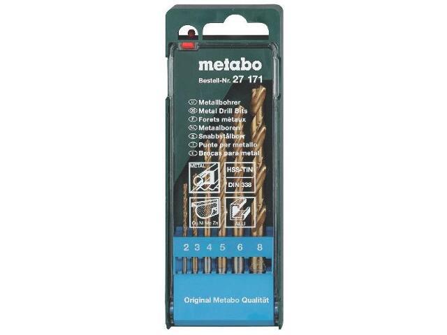 Zestaw wierteł do metalu HSS-TIN w kasecie 6szt. Metabo