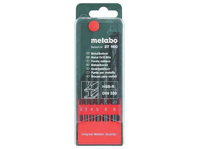 Zestaw wierteł do metalu HSS-R w kasecie 6szt. Metabo