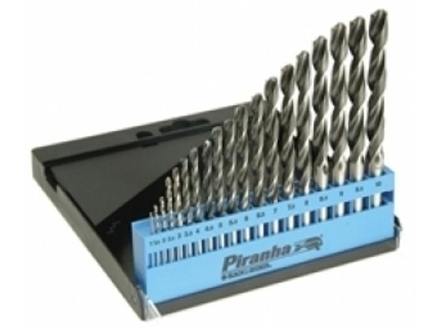 Zestaw wierteł do metalu komplet 19szt. HSS-CNC Piranha