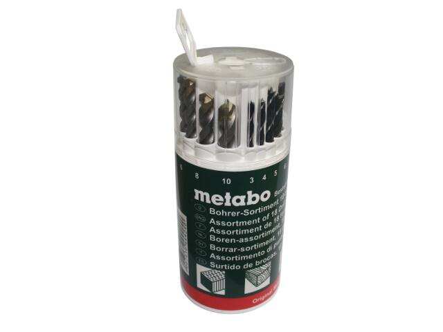 Zestaw wierteł mieszanych w okrągłym pudełku 18szt. Metabo