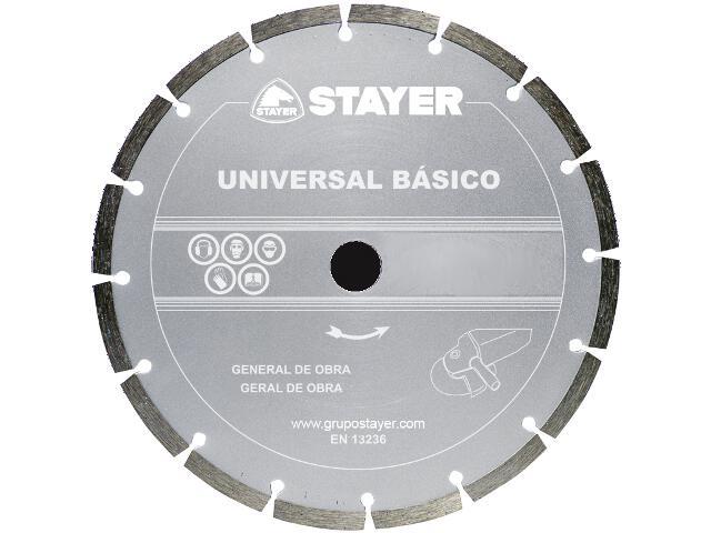 Diamentowa tarcza tnąca Universal Basic 115x22,2mm Stayer