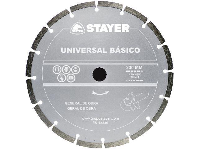Diamentowa tarcza tnąca Universal Basic 230x22,2mm Stayer