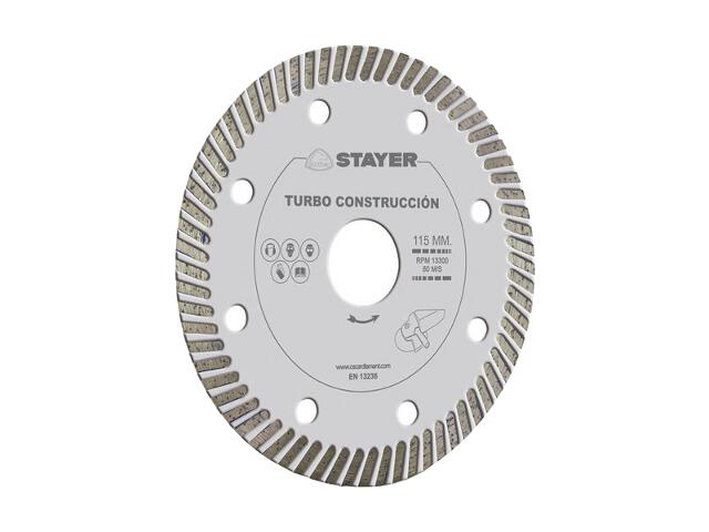 Diamentowa tarcza tnąca Turbo Construction 115x22,2mm Stayer