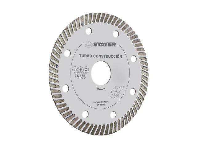 Diamentowa tarcza tnąca Turbo Construction 125x22,2mm Stayer