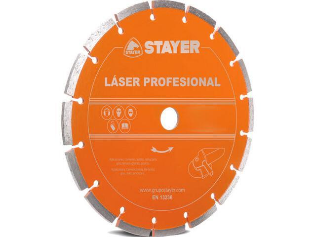 Diamentowa tarcza tnąca Laser Profesional 125x22,2mm Stayer