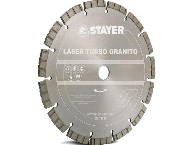 Diamentowa tarcza tnąca Laser Granito 150x22,2mm Stayer